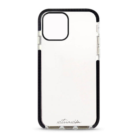 SITUASION Clear iPhonecase[Simple Black]
