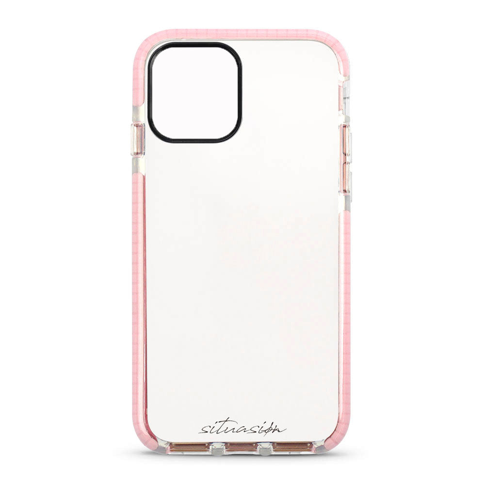 SITUASION Clear iPhonecase[Simple Pink]