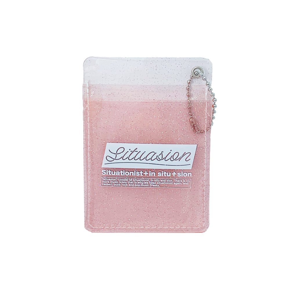 SITUASION Glitter Card case[light pink]