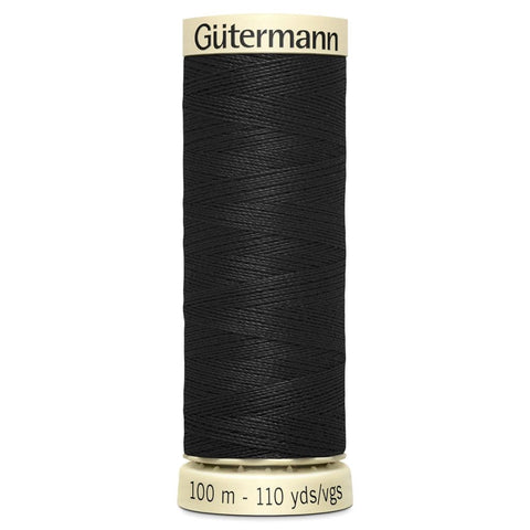 Gutermann Black Sew All Thread 100m (000)
