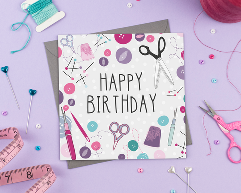 Happy birthday - Greeting Card - Two For Joy Illustration