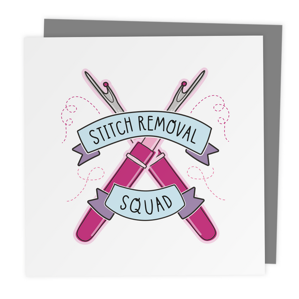 Stitch Removal Squad - Greeting Card - Two For Joy Illustration