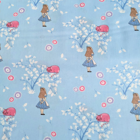 Alice in Wonderland - Cheshire Cat - 100% cotton fabric - V&A Craft Cotton Co