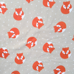 Foxes on beige - anti pill fleece