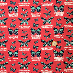 "Natural History Museum ""Callicore Astarte"" Explore the Tropics - 100% cotton - Craft Cotton Co"