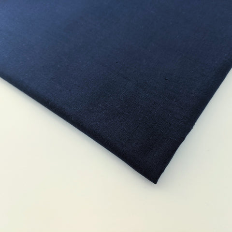 Plain navy 100% cotton