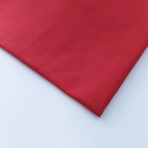 Plain red 100% cotton