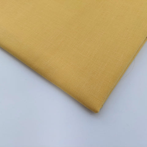 Plain yellow (mustard) - 100% cotton