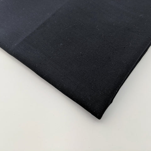Plain black 100% cotton