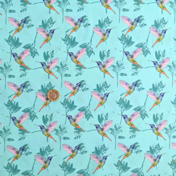 Hummingbirds - 100% cotton - Little Johnny