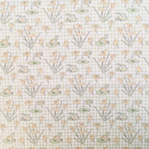 Frogs on gingham - Debbie Shore - 100% cotton