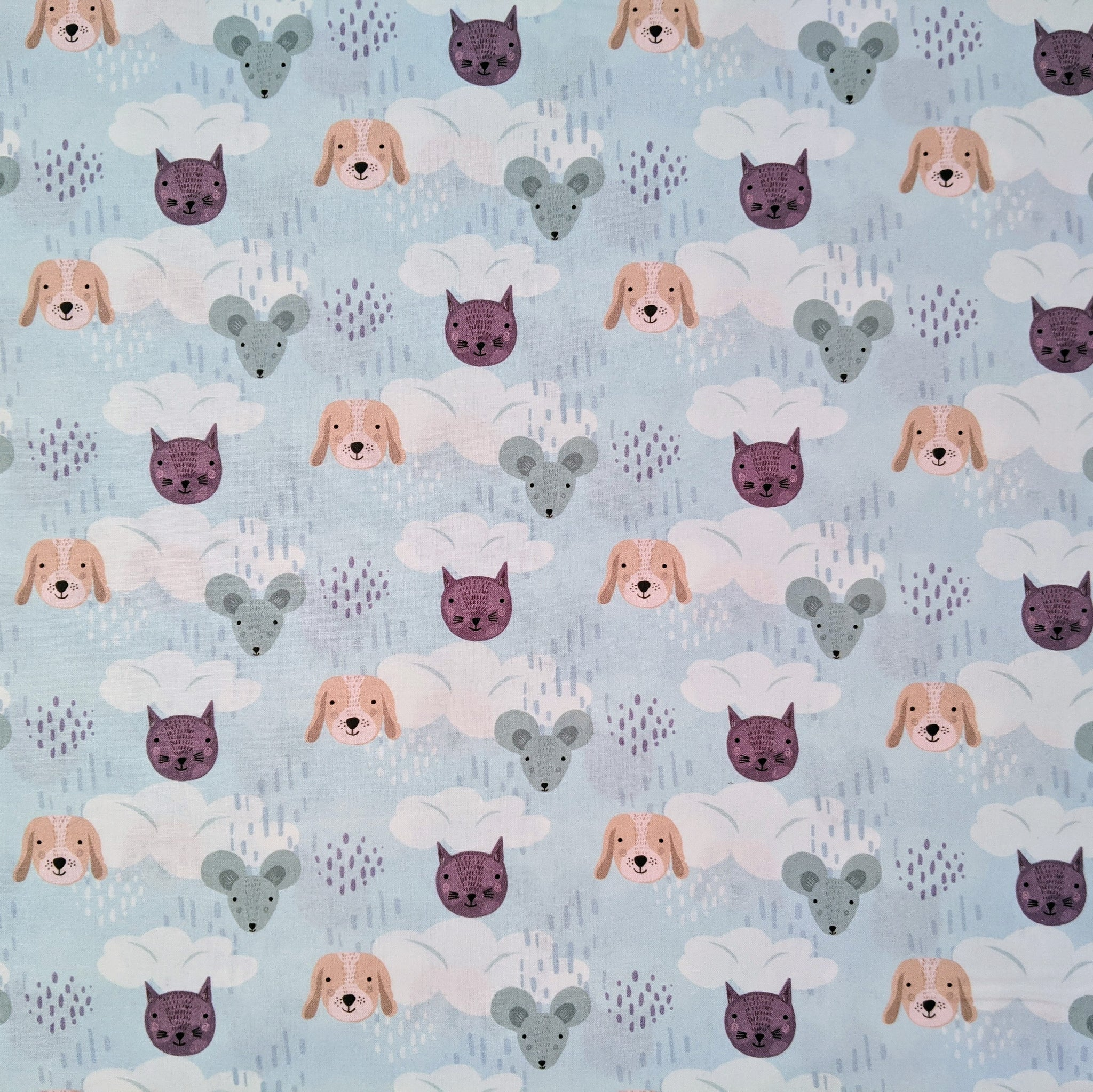 Dogs, cats and mice - 100% cotton - Animals Delight collection - Craft Cotton co