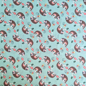 Sloths hanging around - 100% cotton - Wild About You collection - Fabric Editions