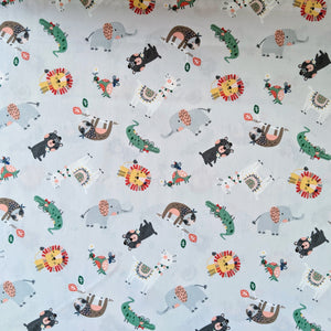 Animals on grey - 100% cotton - Wild About You collection - Fabric Editions