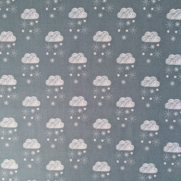 Clouds and snow - 100% cotton - Dashwood Studio