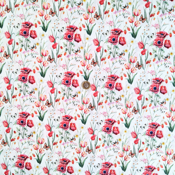 Field of poppies - 100% cotton - John Louden