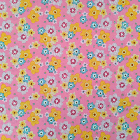 Bright spring florals - 100% cotton - Craft Cotton co - Novelty Easter