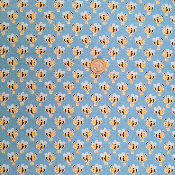 Shopping bees - 100% cotton - Craft Cotton co - Buzzy Bees