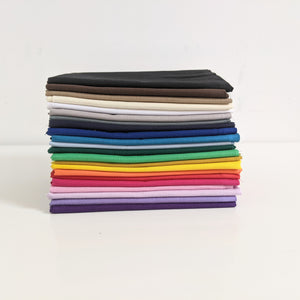 All colours - 100% cotton plain fat quarter bundle