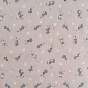 Bunny on pink - 100% cotton - Lewis and Irene