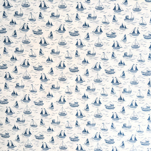 Boats on cream - 100% cotton - Lewis and Irene