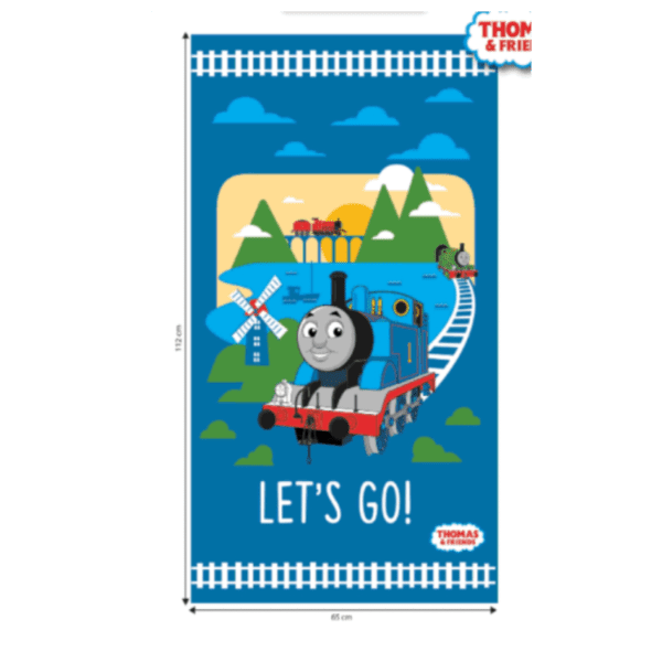 Let's Go panel - 100% cotton - Thomas the Tank Engine and Friends