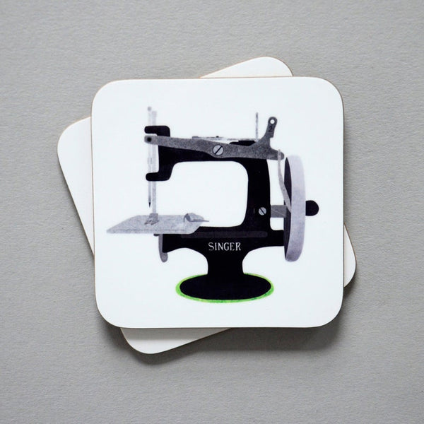 Singer sewing machine coasters - Fiona Clabon Illustration