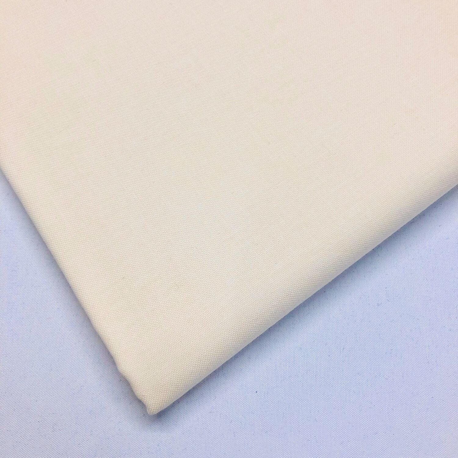Plain cream - 100% cotton