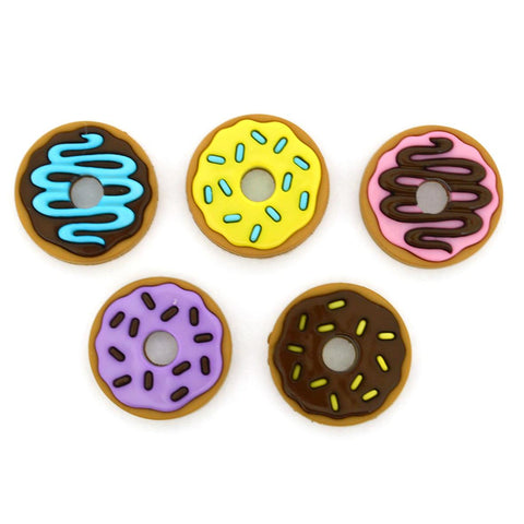 Donut party - buttons - pack of 5