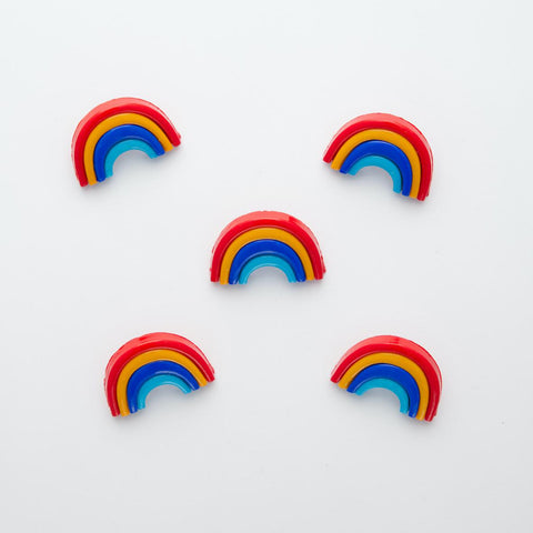 Rainbow novelty shank buttons - 25mm