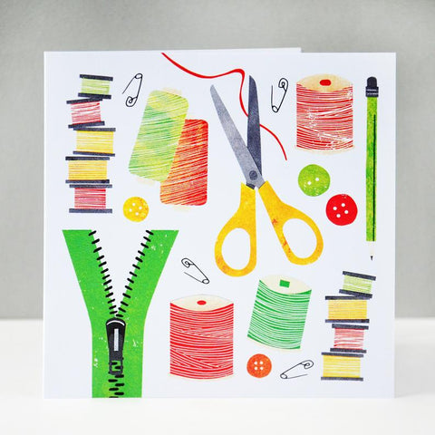 All Things Sewing card - Fiona Clabon Illustration