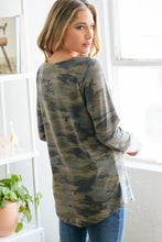 Load image into Gallery viewer, Criss Cross Camo Top