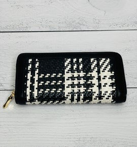 Plaid Black and White Wallet