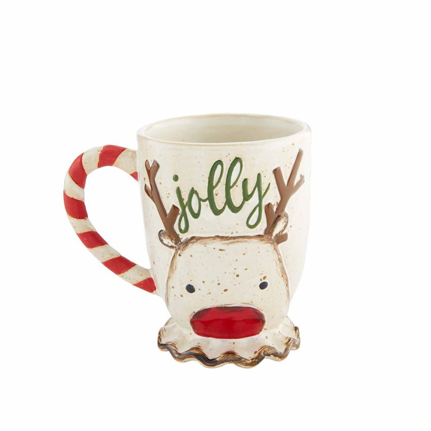 Reindeer Farmhouse Mug