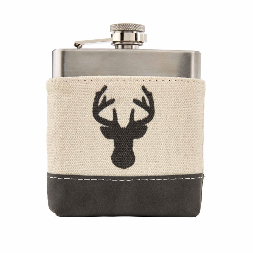 Black Deer Profile Flask