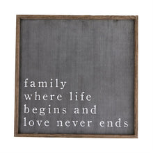 Load image into Gallery viewer, Family Black Plaque