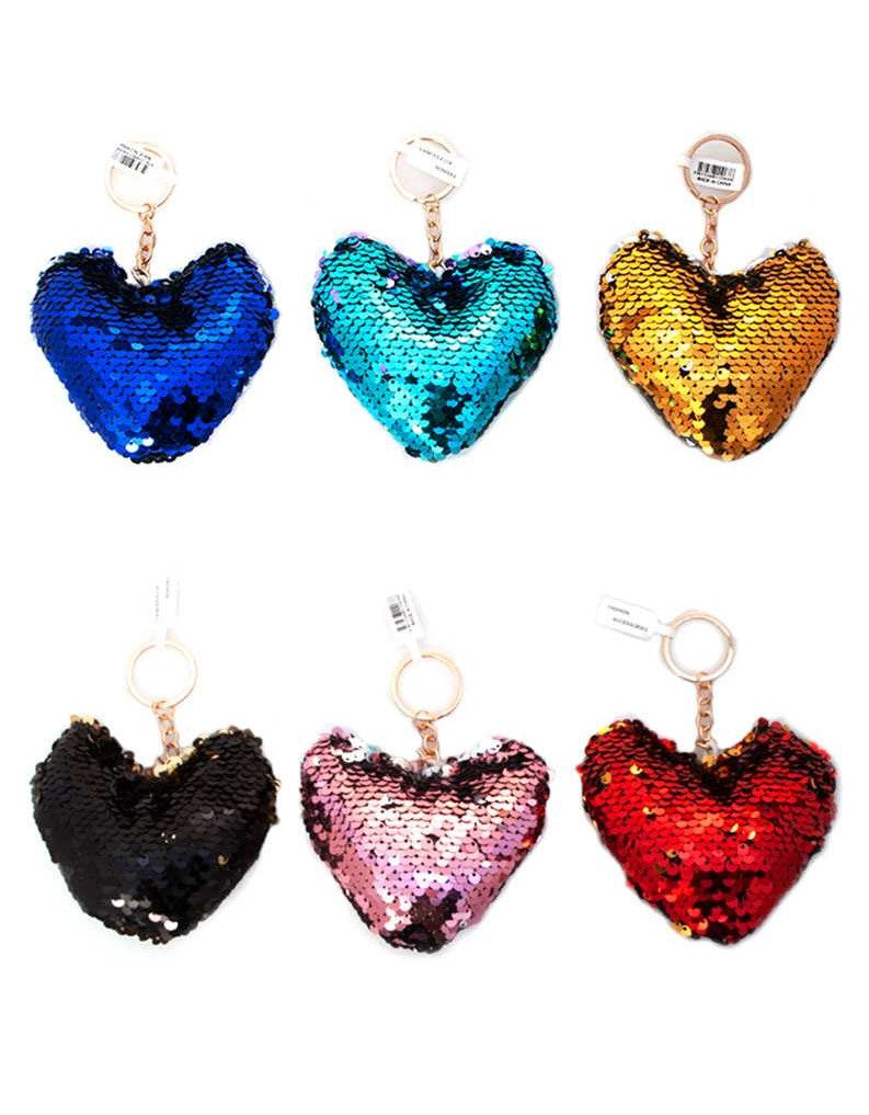 Spangle Heart Keychain