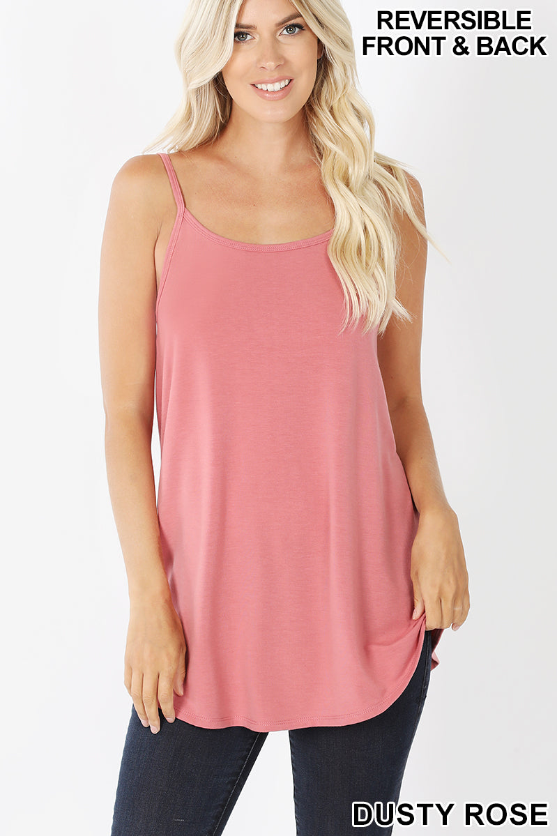 Zenana Reversible V Neck Tank