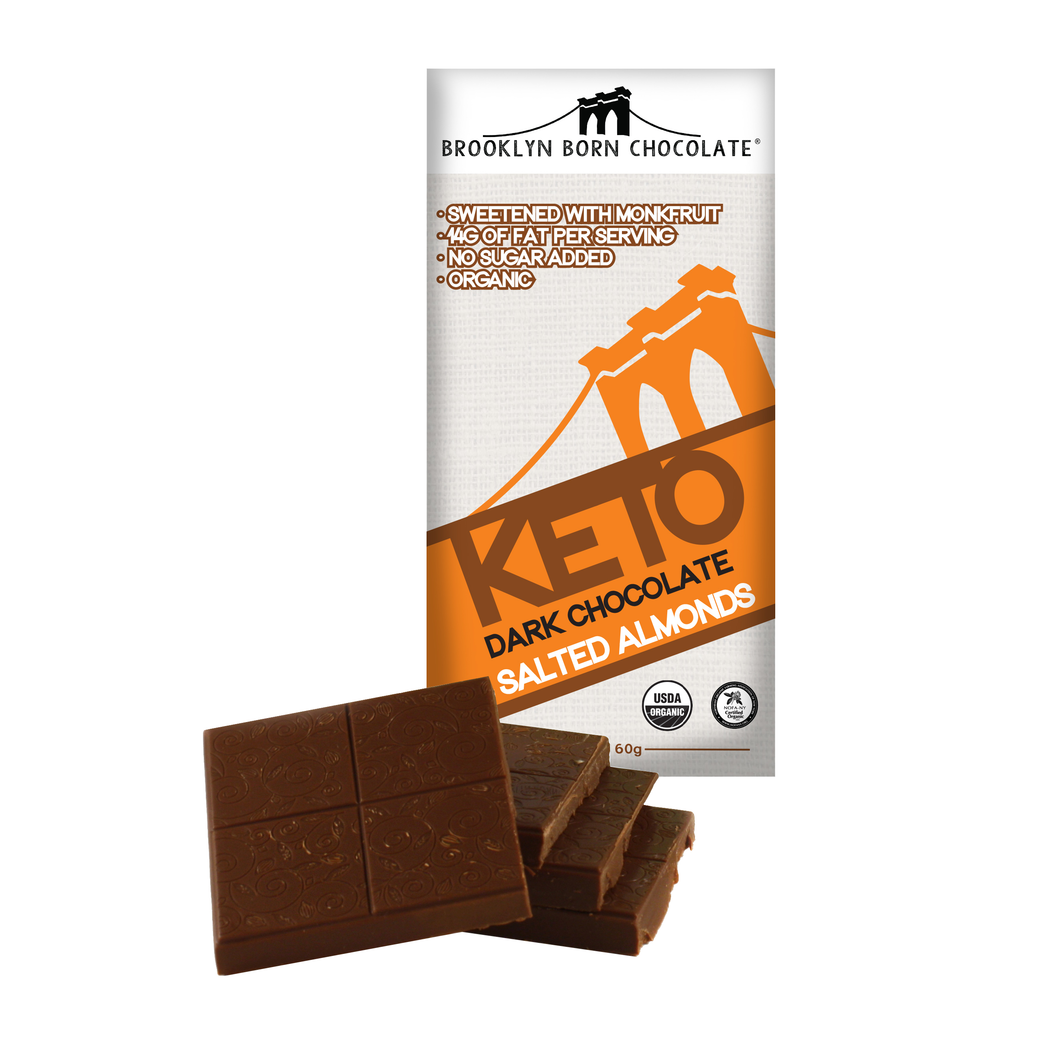 Salted Almonds Keto Dark Chocolate Bar
