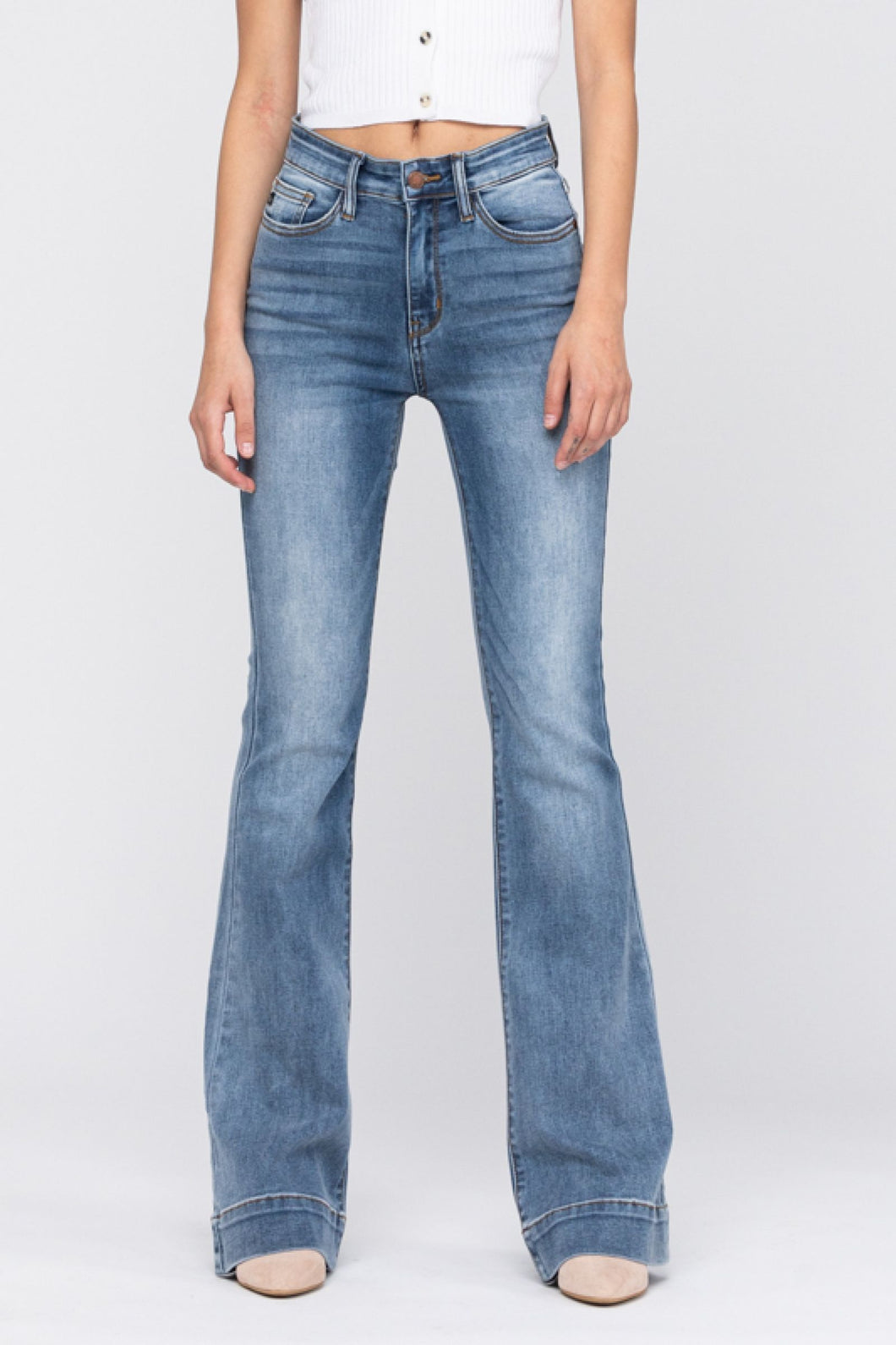 Judy Blue Mid-Rise Trouser Flare