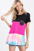 Load image into Gallery viewer, Heimish Color Block Tie-Dye Shirt