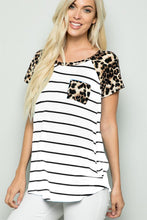 Load image into Gallery viewer, Heimish Leopard Striped Shirt