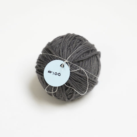 Grey yarn ball