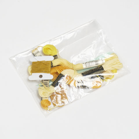 Yellow embroidery floss pack