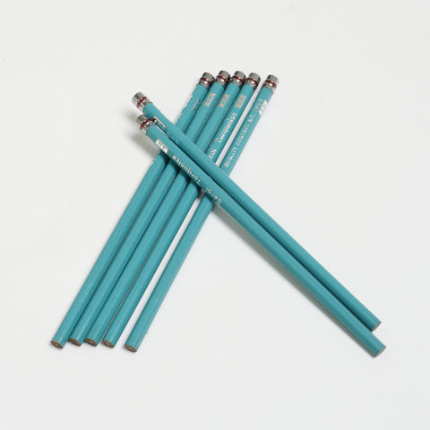 Vintage berol turquoise 3H pencil set