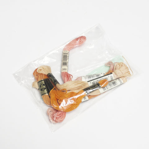Peachy embroidery floss pack