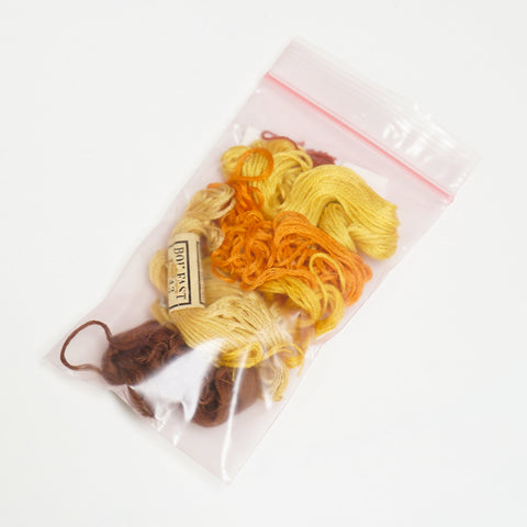 Embroidery thread mixed bag - yellows