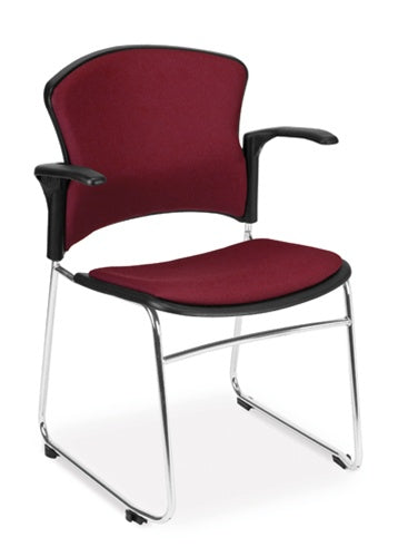 OFM MultiUse Fabric Seat & Back Stacker with Arms 310-FA