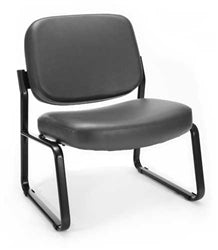 Big & Tall Vinyl Armless Guest/Reception Chair by OFM