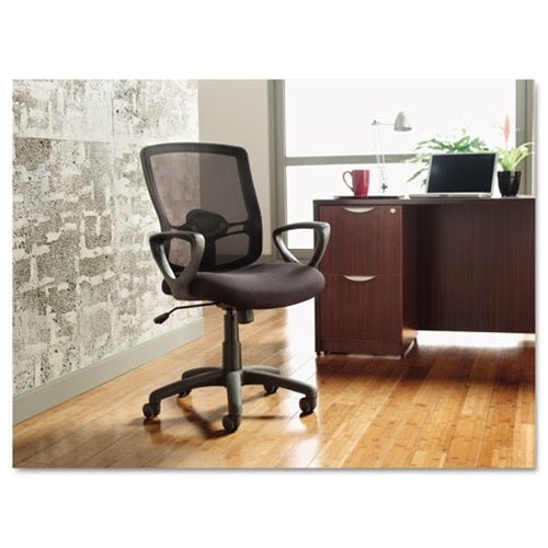 Alera Etros Series Mesh Mid-Back Swivel/Tilt Chair, Black